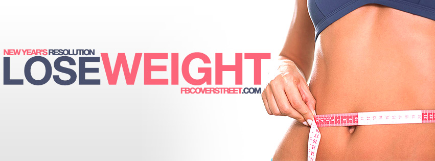 New Years Resolution Lose Weight Female Facebook Cover