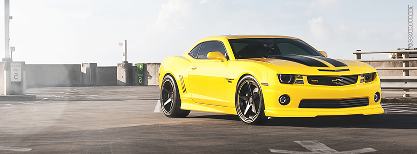 Yellow and Black Camaro  Facebook cover