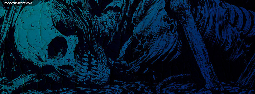 Blue Skeleton Art Facebook Cover