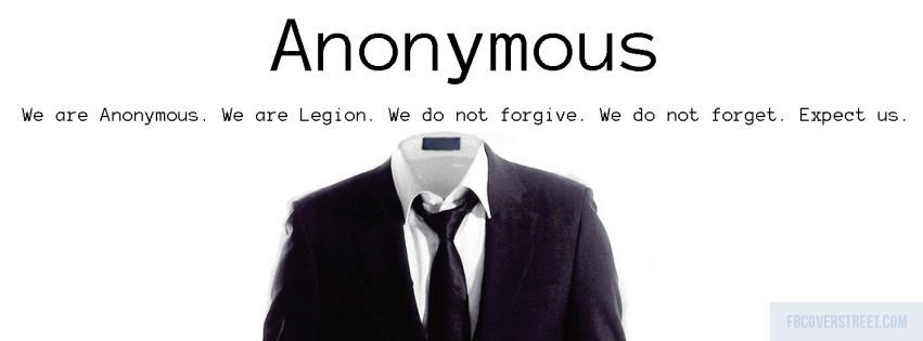 Anonymous 3 Black and White Facebook Cover