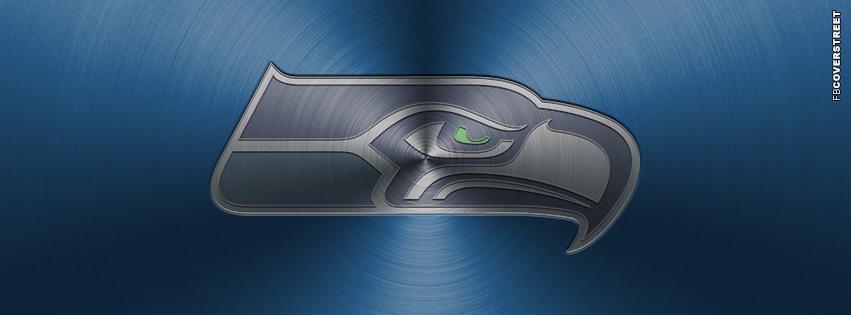 Seattle Seahawks Aluminum Logo Facebook Cover