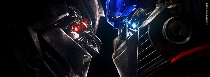 Transformers Face Off Movie Facebook cover