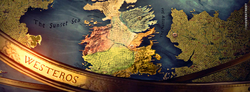 Game of Thrones Westeros Map Globe  Facebook Cover