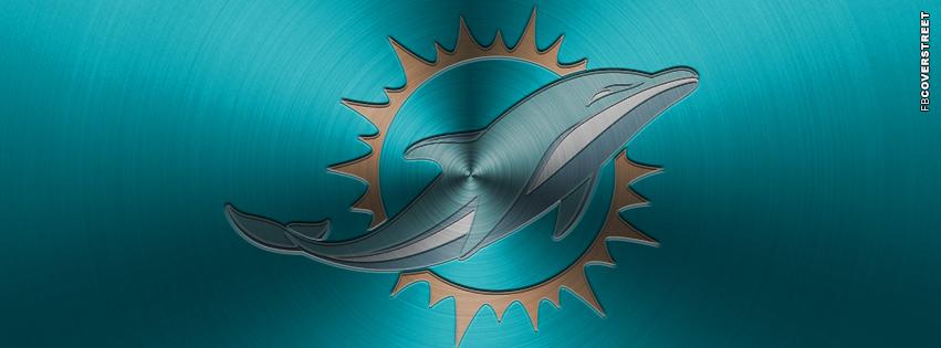 Miami Dolphins Aluminum Logo Facebook cover