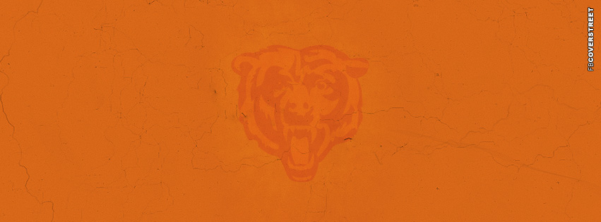 Chicago Bears Grunge Logo Facebook cover