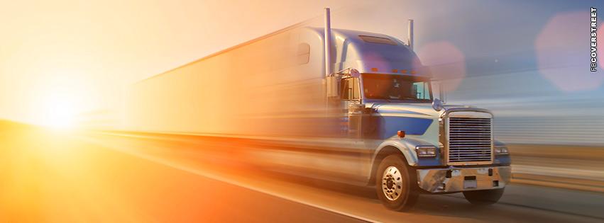 Light Motion Semi Truck  Facebook cover