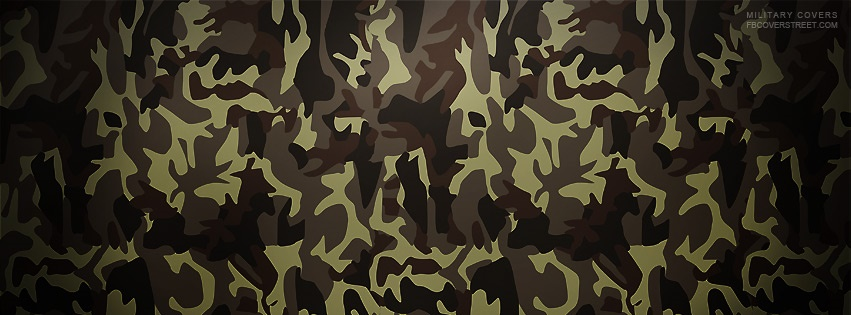 Green Camo Pattern 2 Facebook Cover