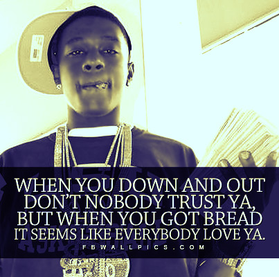 Lil Boosie Down And Out Quote Facebook picture
