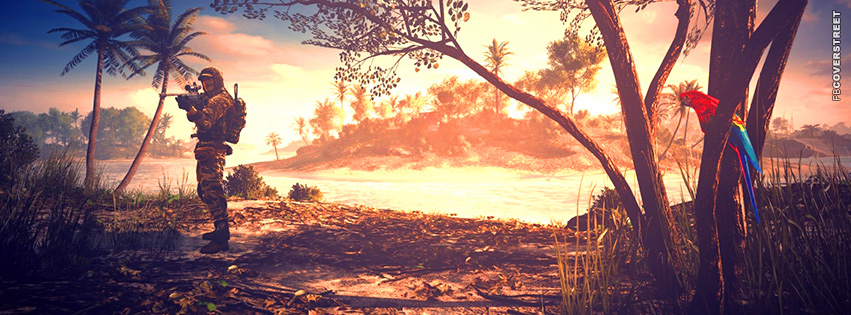 Battlefield 3 Tropical Snipe  Facebook Cover