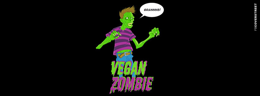Vegan Zombie  Facebook cover