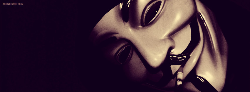V For Vendetta Anonymous Smoker Facebook Cover