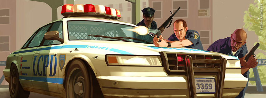 Grand Theft Auto 4 Cops  Facebook cover