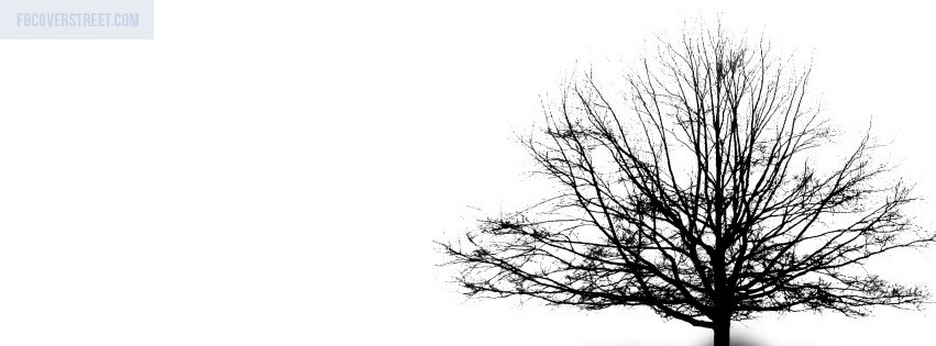 Tree Illustration Black and White Facebook cover