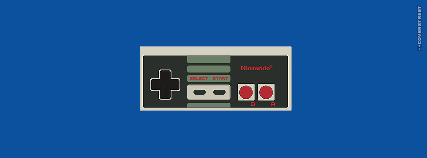 Old School Nintendo Controller  Facebook cover