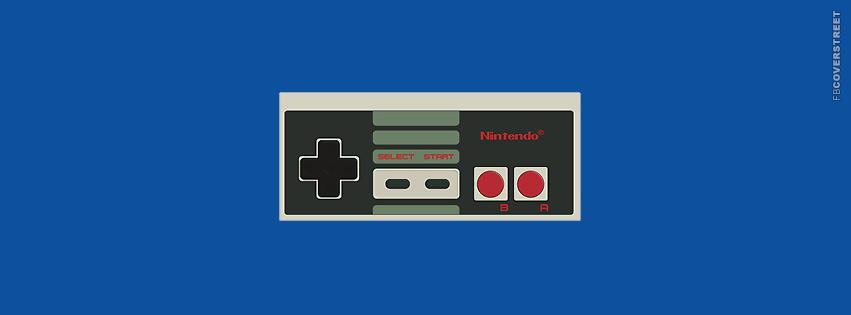 Old School Nintendo Controller  Facebook Cover