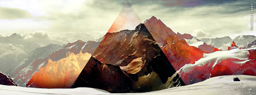 Triangle Winter Scenery Painting  Facebook cover