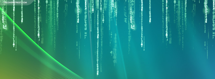 Windows Falling Matrix Letters  Facebook Cover