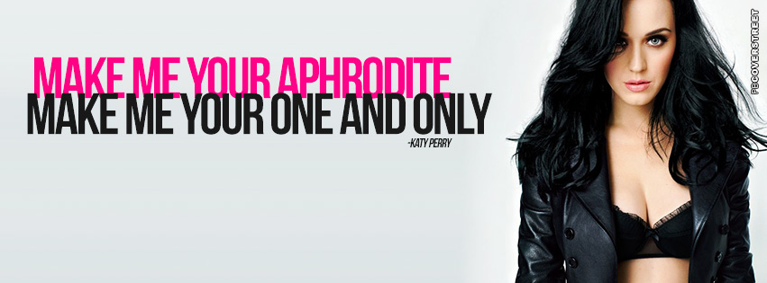 Katy Perry Dark Horses Quote Facebook cover
