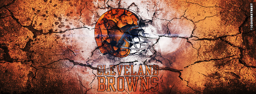 Cleveland Browns Grunged Logo  Facebook cover