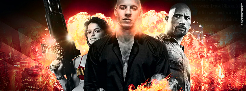 Fast and Furious 6 Abstract Detail Movie Facebook cover