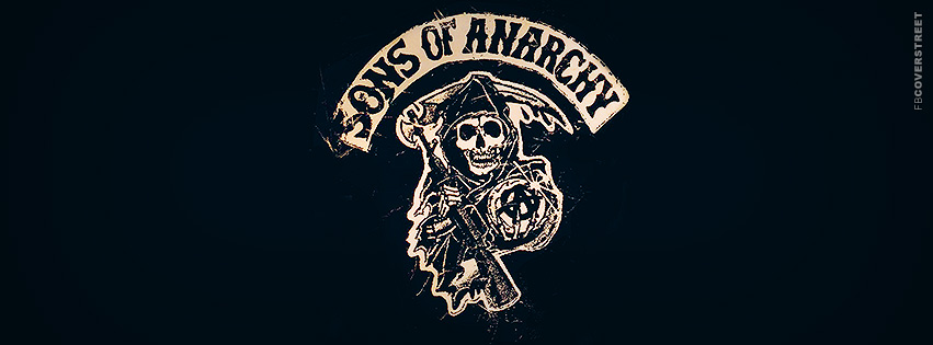 Sons of Anarchy Grunged Logo Facebook Cover