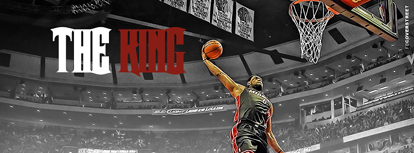 Miami Heat Lebron James The King  Facebook cover