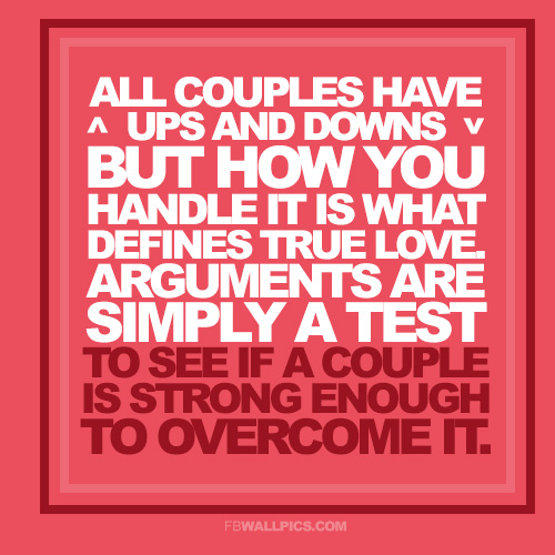 All Couples Have Ups And Downs Relationship Quote Facebook picture
