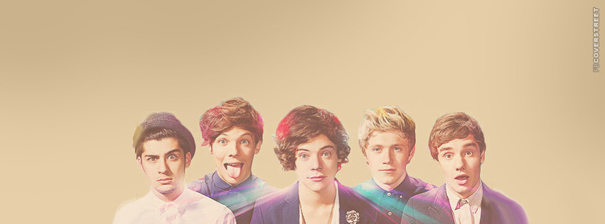 One Direction Simple Abstract Facebook Cover