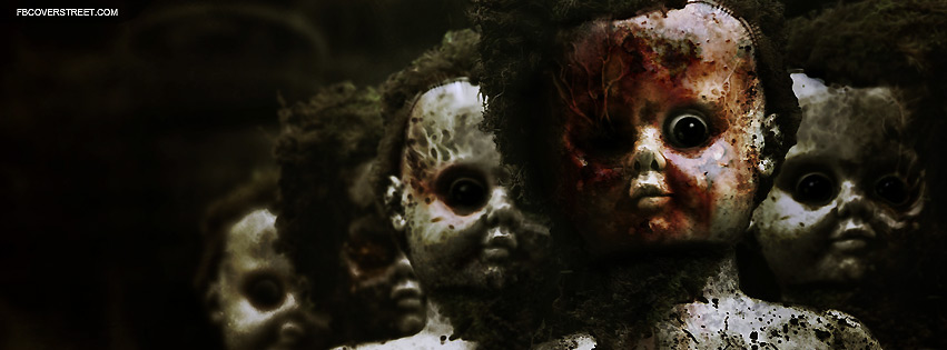 Scary Creepy Dolls Facebook Cover