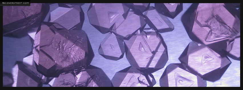 Purple Crystal  Facebook cover