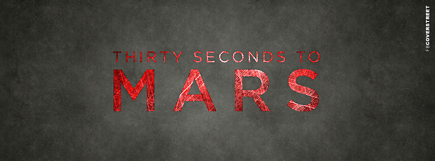 Thirty Seconds To Mars Typography Logo  Facebook cover