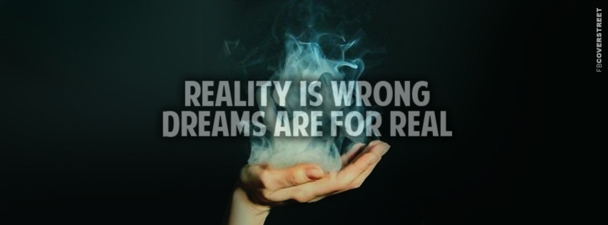 Reality Is Wrong  Facebook cover