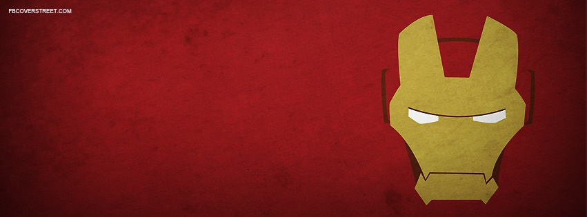 Ironman Face 2 Facebook Cover