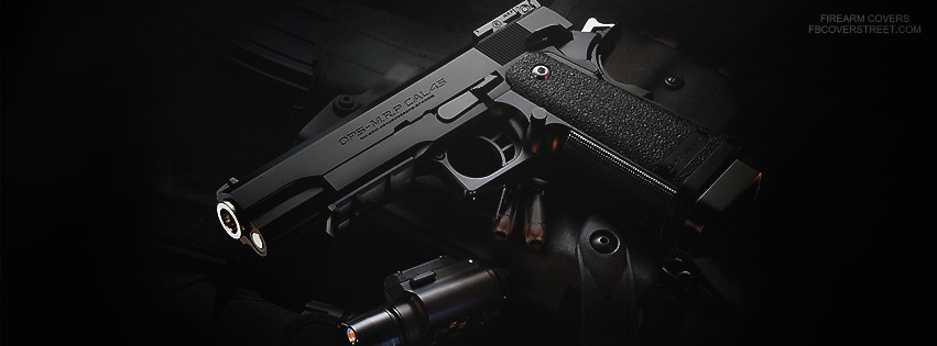 Pistol And Accessories Facebook Cover