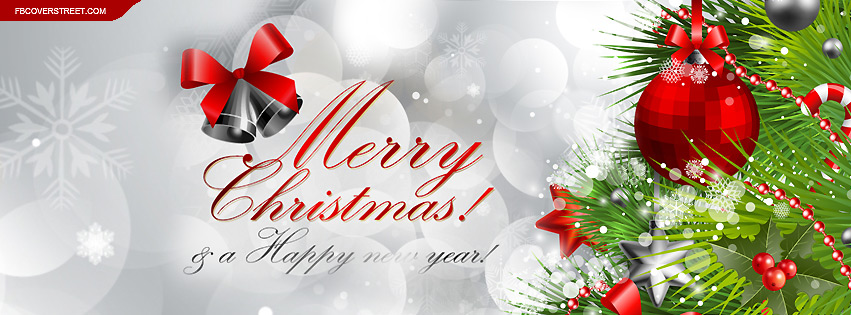 Merry Christmas and A Happy New Year Facebook Cover - FBCoverStreet.com