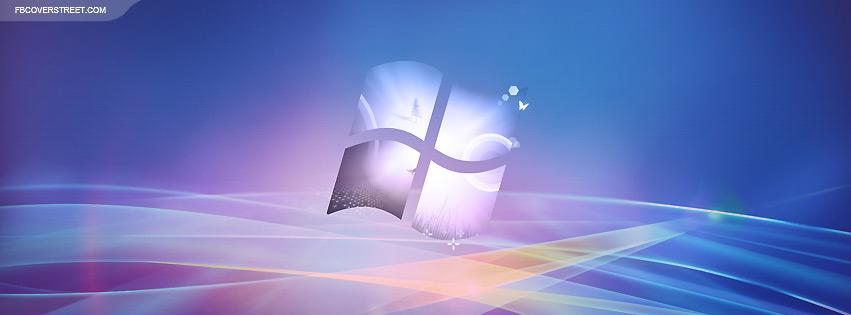 Windows Abstract Logo  Facebook cover