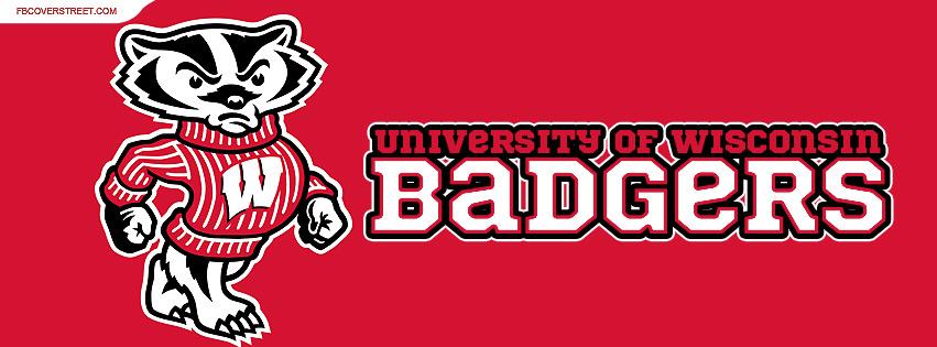 University of Wisconsin Badgers Logo Plain Facebook cover