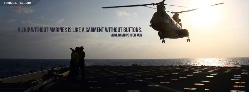 A Ship Without Marines Quote Facebook Cover