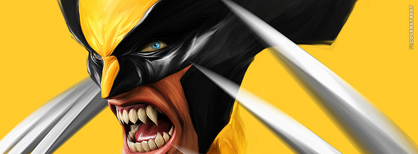 Wolverine Painted Face  Facebook Cover