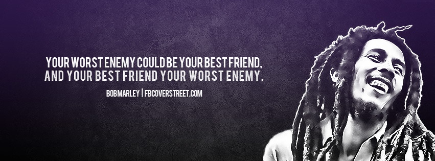 Bob Marley Friends And Enemies Facebook Cover