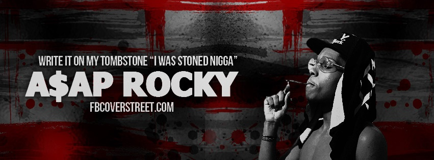 asap rocky tombstoned facebook cover fbcoverstreetcom