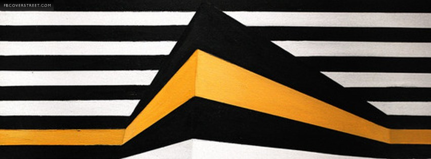 Striped Gold  Facebook Cover