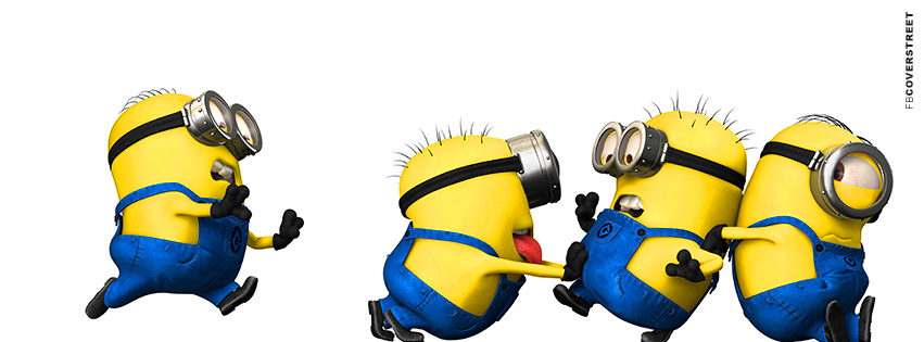 Despicable Me Running and Pushing Minions  Facebook Cover