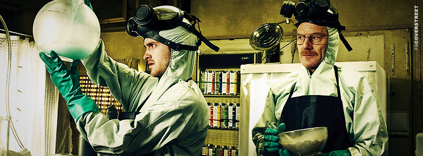 Jesse and Walter Cooking Meth Breaking Bad Facebook Cover
