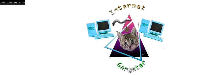 Internet Gangster Cat Facebook cover