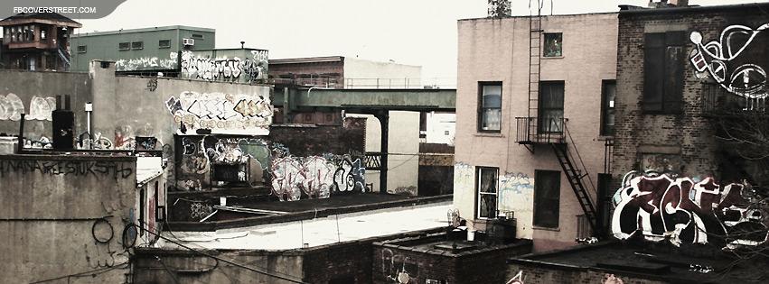 Destroyed Street Art Graffiti City Facebook cover