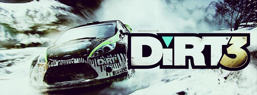 DiRT 3 Snow Drifting Facebook Cover