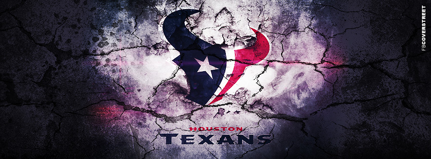Houston Texans Grunged Logo  Facebook cover