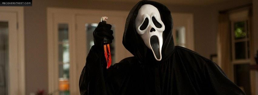 Ghostface From Scream Facebook Cover