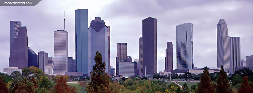 Houston Texas City Skyline  Facebook cover